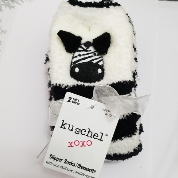 3/$20 NWT 2 Pair of Toddler Girl Slipper Socks